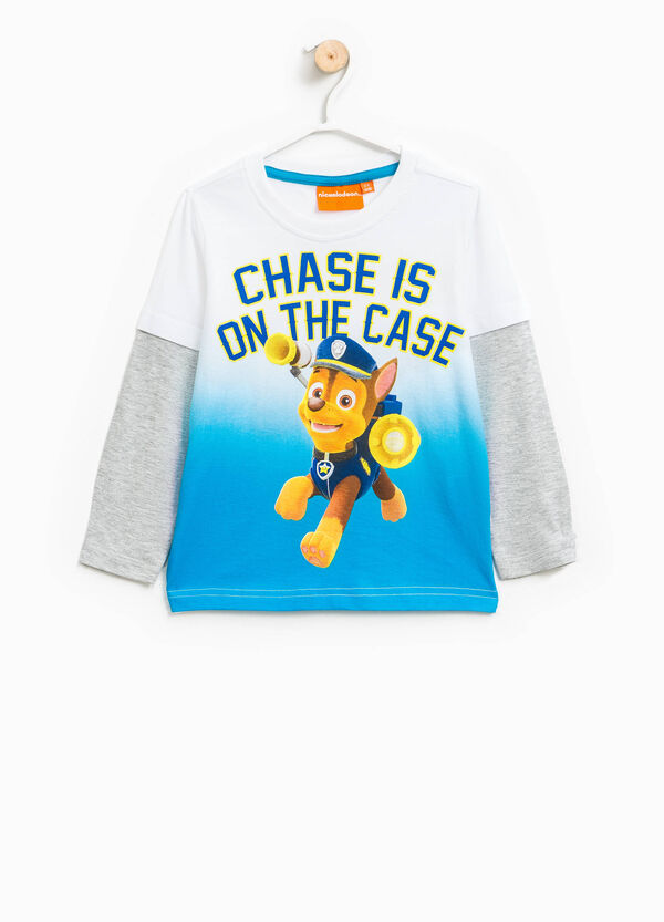 Faux layered cotton T-shirt with Paw Patrol print | OVS