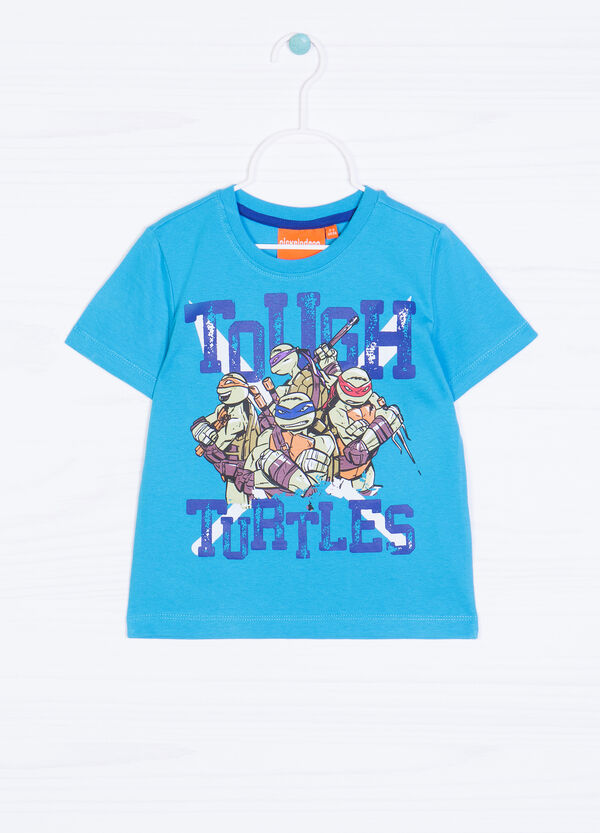 Teenage Mutant Ninja Turtle print T-shirt in 100% cotton. | OVS