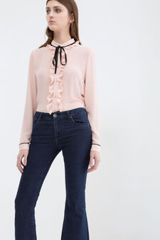 Jeans bootcut stretch, Blu, hi-res