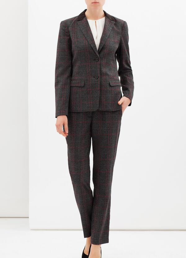 Stretch tartan blazer | OVS