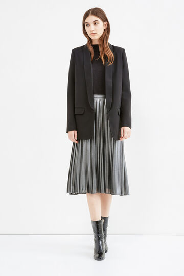 Pleated midi skirt, Grey/Silver, hi-res