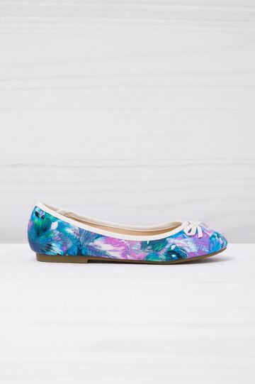 Ballerine con stampa floreale, Blu, hi-res