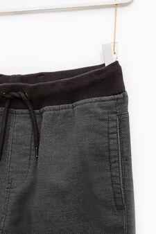 Pantaloni tinta unita con coulisse, Blu, hi-res