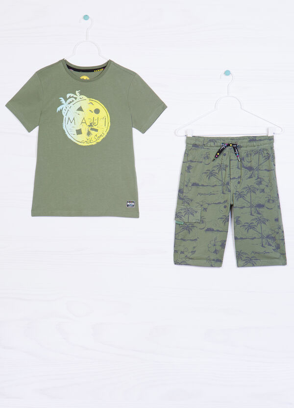 Patterned cotton outfit by Maui and Sons | OVS