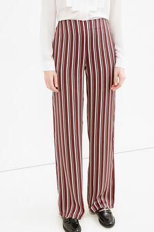 Pantaloni palazzo a righe, Bianco panna, hi-res