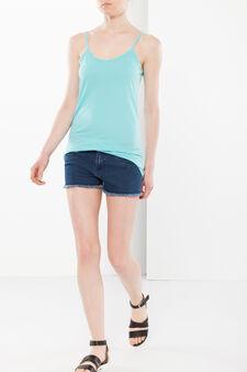 Semitransparent top, Aqua Blue, hi-res