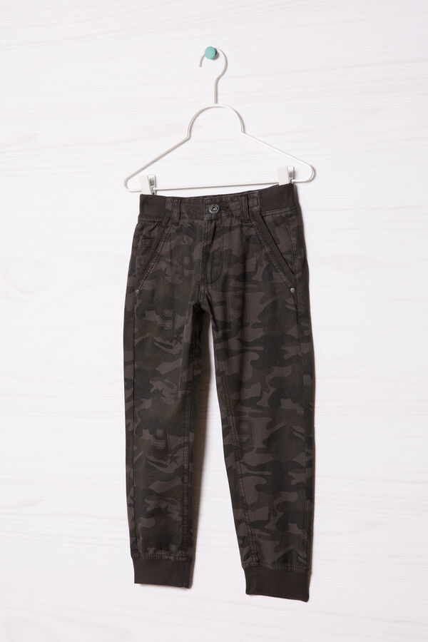 100% cotton trousers with camouflage pattern | OVS