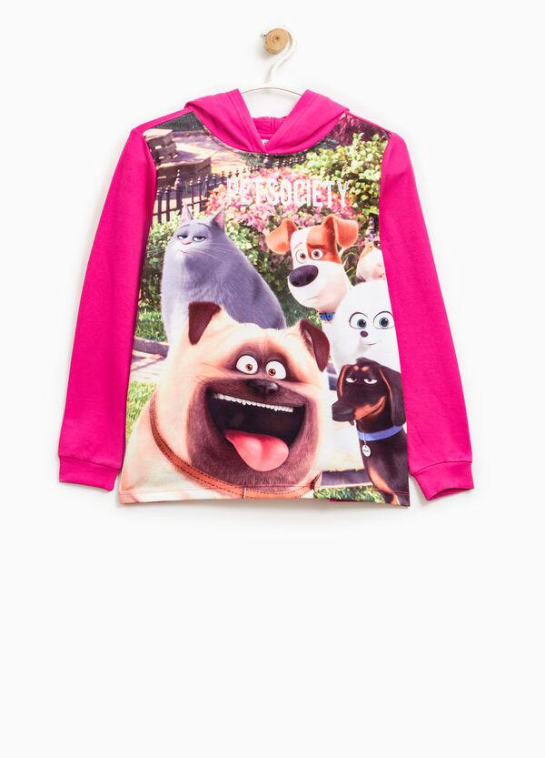 Pets maxi print cotton sweatshirt | OVS