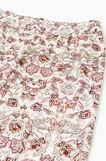 Pantaloni pigiama viscosa floreali, Bianco, hi-res