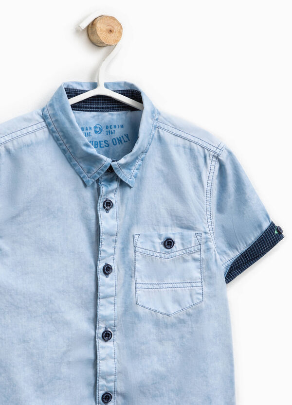 Short-sleeved mis-dyed shirt | OVS