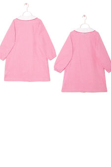 Two-pack primary school smocks, White/Pink, hi-res