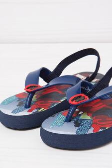 Spiderman print thong sandals, Navy Blue, hi-res
