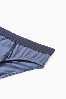 Se due slip cotone stretch a righe, Blu denim, hi-res