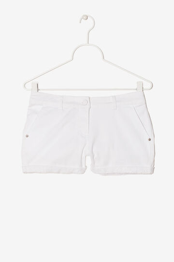 Stretch sequinned shorts, White, hi-res