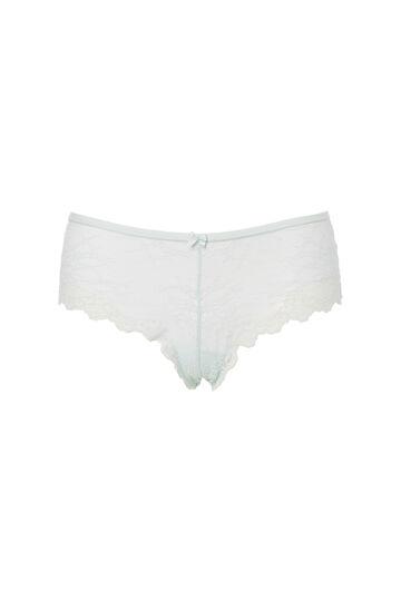 Plain colour stretch lace briefs