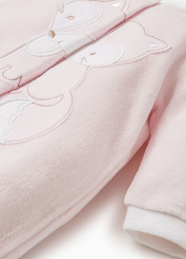 Onesie with feet and animal patch | OVS