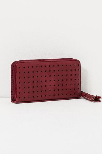 Openwork wallet, Red, hi-res