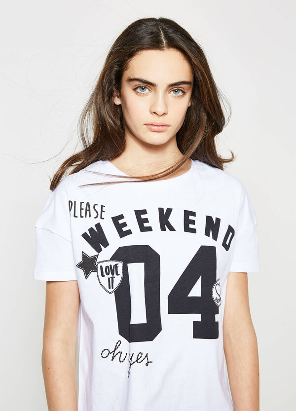 T-shirt con stampa e patch Teen | OVS
