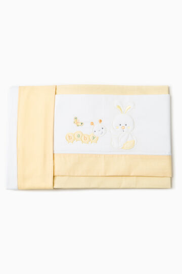 Animal patch crib set, White/Yellow, hi-res