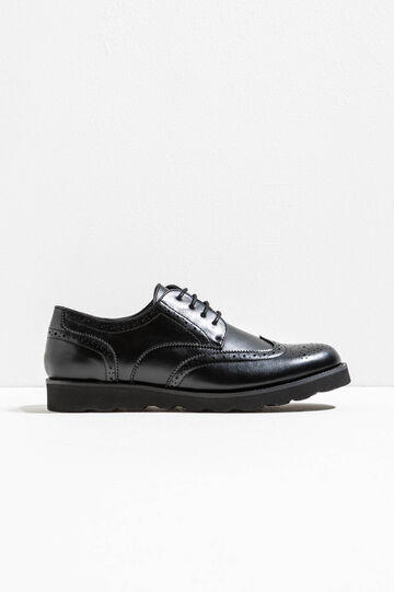 Brogues with laces, Black, hi-res