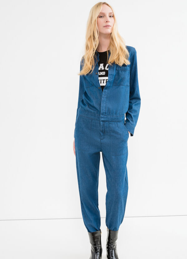 Denim jumpsuit with pockets | OVS