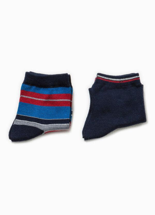 Pack de dos pares de calcetines con bordados y fantasía | OVS