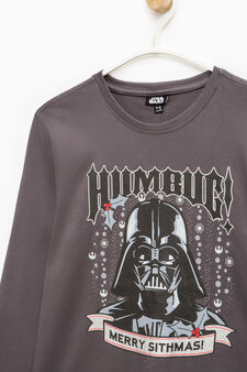 Star Wars print 100% cotton T-shirt, Grey, hi-res