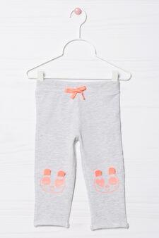 Pantaloni tuta stretch con coulisse, Grigio melange, hi-res