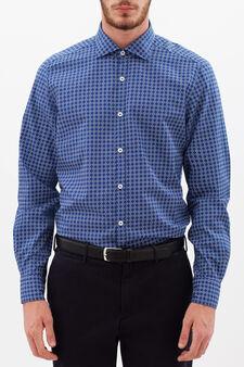 Rumford patterned shirt, Blue, hi-res