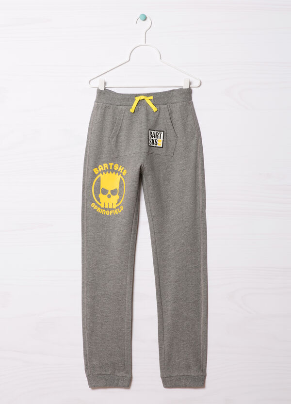 100% cotton joggers with The Simpsons print | OVS