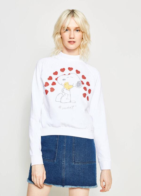 Felpa collo alto stampa Snoopy | OVS