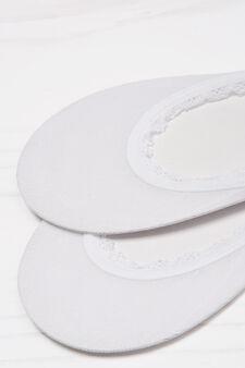 Calze salvapiede tinta unita, Bianco, hi-res