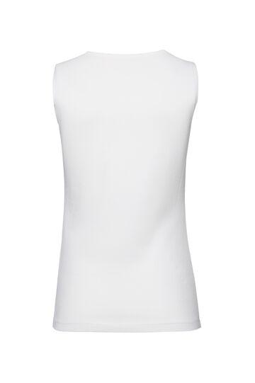 Canotta puro cotone profili Smart Basic, Bianco, hi-res