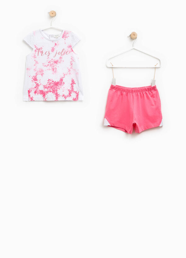 Pijama camiseta y shorts con estampado | OVS