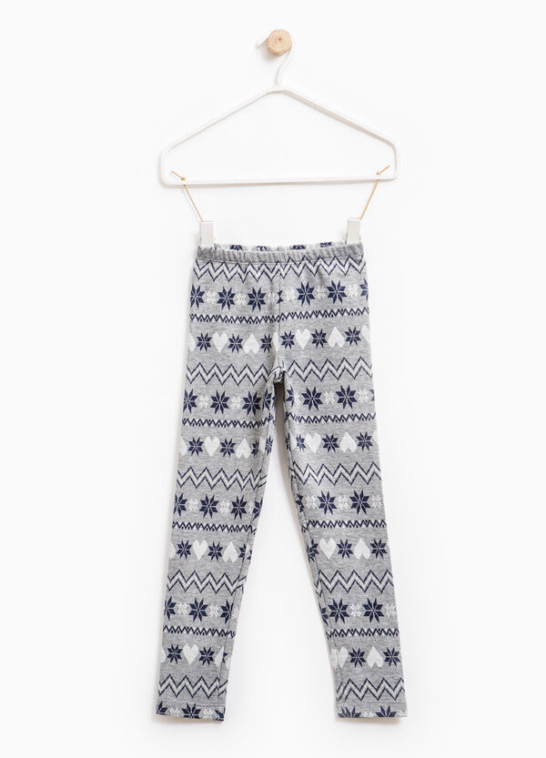 Jacquard patterned leggings | OVS