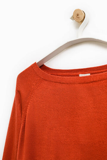Smart Basic solid colour pullover, Orange, hi-res
