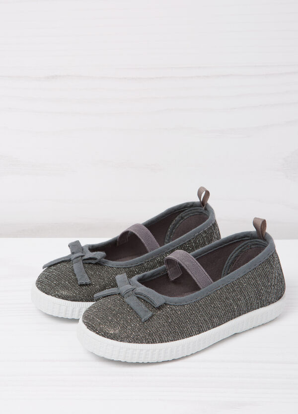 Glitter shoes with bow | OVS