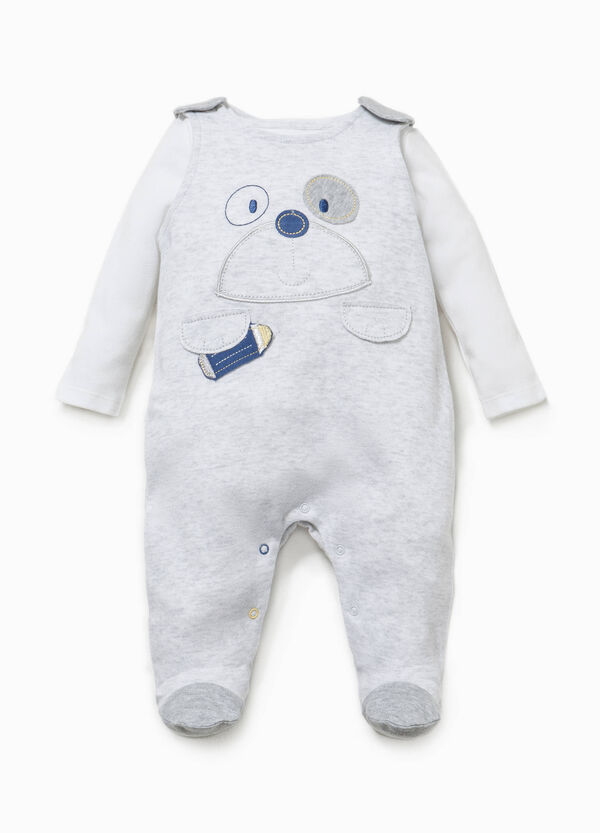 T-shirt and onesie set with puppy embroidery | OVS