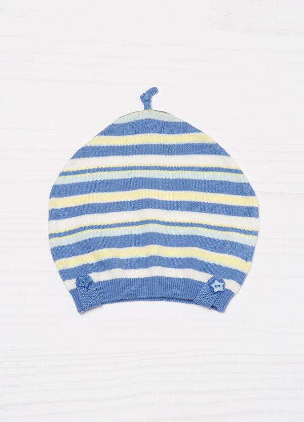 Cappello a cuffia in cotone a righe | OVS