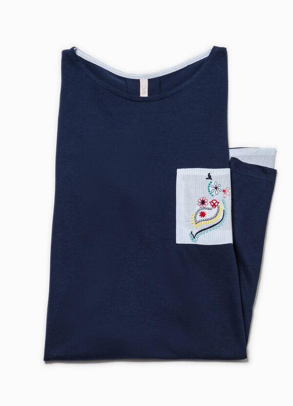 Camicia da notte con taschino rigato | OVS
