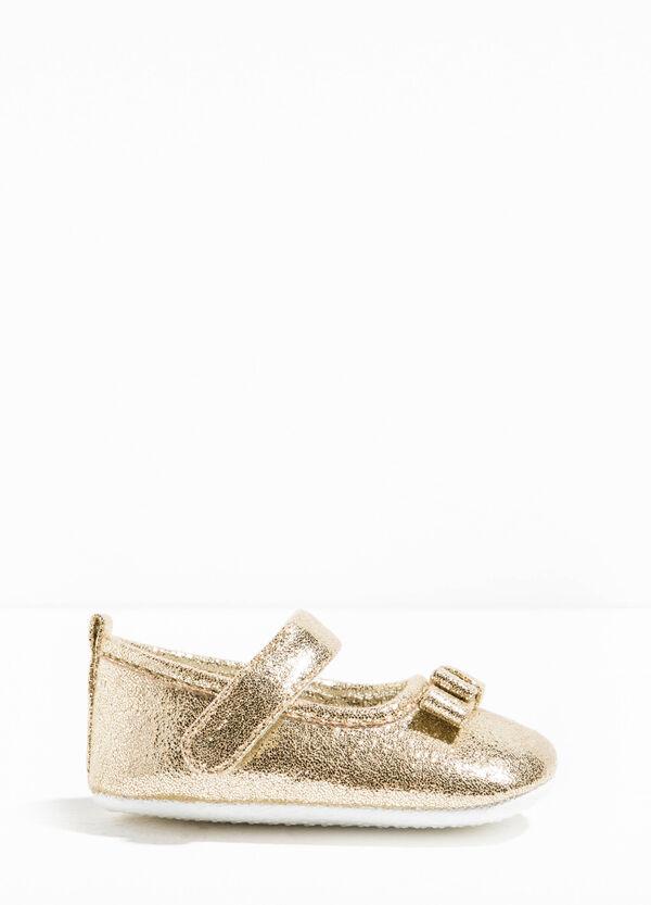 Shiny glitter ballerina flats | OVS