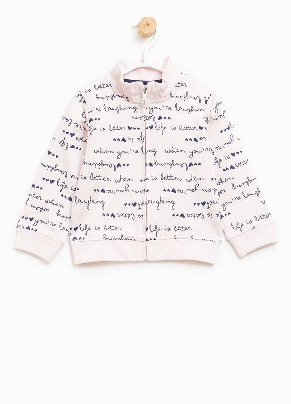 Patterned sweatshirt in 100% cotton | OVS