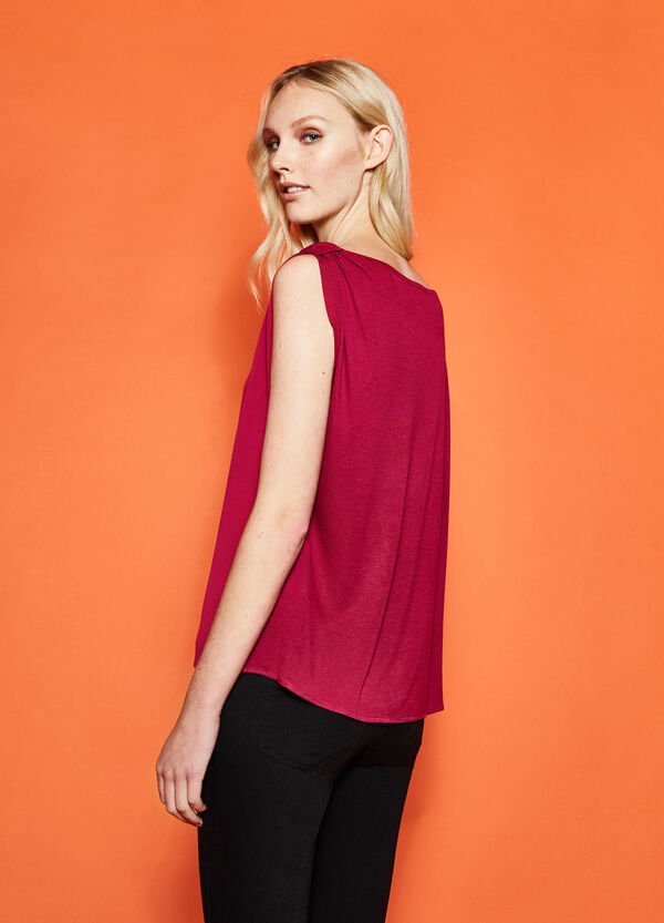 100% viscose top with strap | OVS