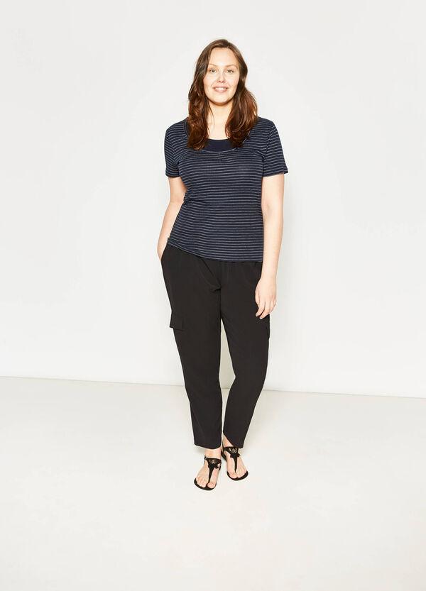 T-shirt in cotone finto doppio Curvy | OVS