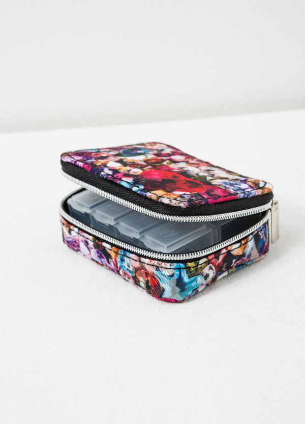 Printed pill box with zip | OVS