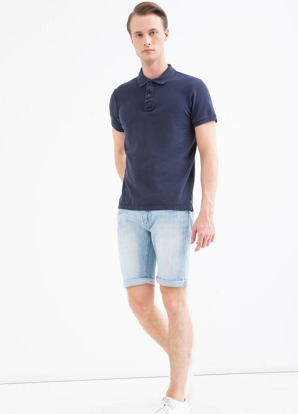 Skinny-fit denim Bermuda shorts | OVS