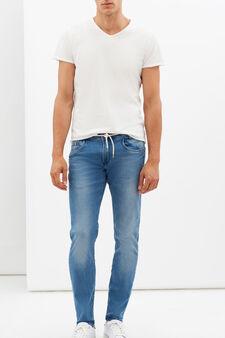 Slim fit, fleece-lined stretch jeans, Light Wash, hi-res
