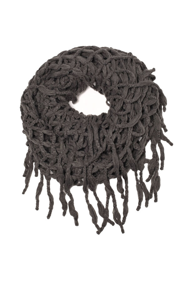 Mesh scarf with fringes | OVS