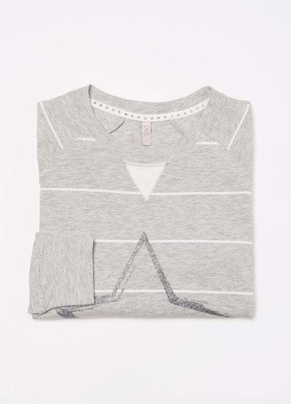 Stretch pyjama top with glitter | OVS