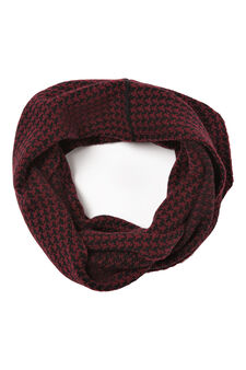 Solid colour loop scarf, Claret Red, hi-res